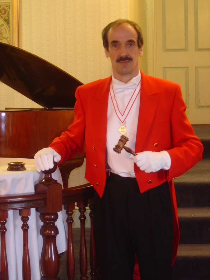 Edmond Wells as East Anglia Toastmaster